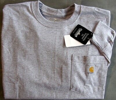 Carhartt K126 Long Sleeve Workwear Pocket T-Shirt - Heather Gray  LG