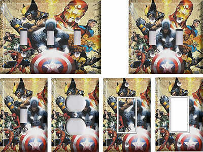 Marvel Super Heroes 1 - Light Switch Covers Home Decor Outlet