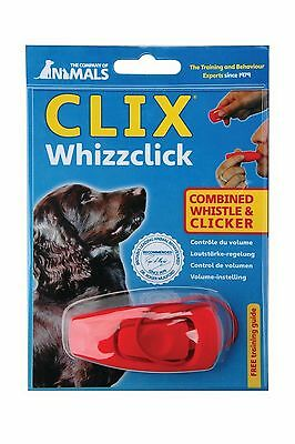 Clix Dog Training Whizz Clicker with Whistle Dog Puppy Training Aid & Free Guide