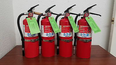 5lb Fire Extinguisher ABC Dry Chemical - Lot of 4 - Rechargeable - First Alert