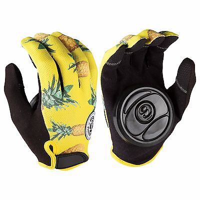 Sector 9 Rush Yellow Pineapple Longboard Slide Gloves With Palm Pucks