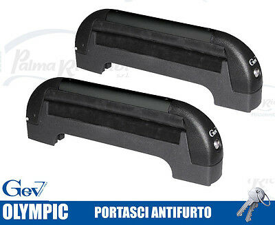8919 Ski Roof Rack Ant-Itheft System For Bars Gev Olympic For 3 Pairs Di Sci O 2