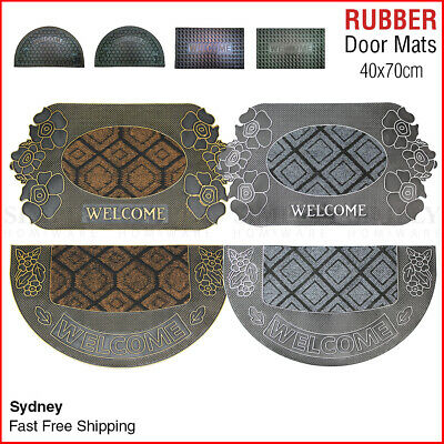Rubber Coir Front Door Mats Large Doormats Outdoor Rugs Non Slip Long 40x70cm