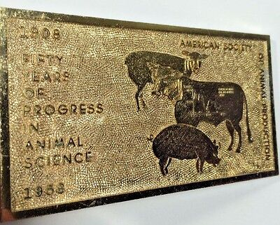 Paperweight American Society Of Animal Production 50 years 1908 1958 Progress