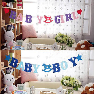 Cute Baby Party Decor Shower Banner Decoration Reads in Baby GIRL/Baby BOY 2.5M