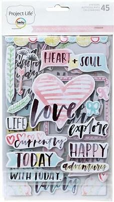PROJECT LIFE ~ Chipboard Stickers ~ Inspire Edition ~ 45 pieces 380394