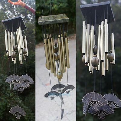 12 Tubes Vintage Wind Chimes Church Windchime Living Yard Garden Hanging Decor