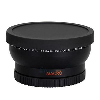 58MM 0.45x Wide Angle Lens with Macro for Canon EOS 1000D DSLR T1i T2i XT #3YE