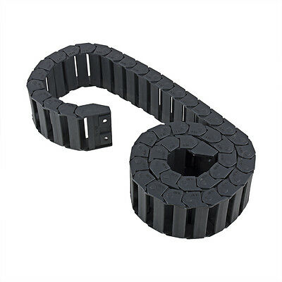 R28 15mm x 50mm Black Plastic Cable Drag Chain Wire Carrier 1M Length for CNC