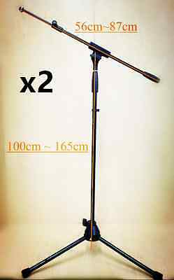 2xProfessional tripod telescope boom microphone stand  MS005 Height Adjustable
