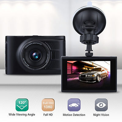 "A10 Full HD 1080P 3"" LCD Car Dash DVR Camera CAM Recorder Night Vision USB HL"