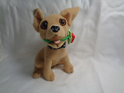 Yo Quiero Taco Bell Chihuahua Dog Plush w/ Red Rose - No sounds