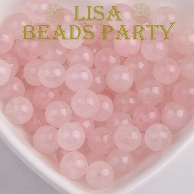 Wholesale 4~12mm Natural Rose Quartz Gemstone Stone Round Loose Spacer Beads Lot