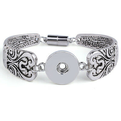 European crystal Metal bracelets drill fit for noosa 18mm snaps charm button
