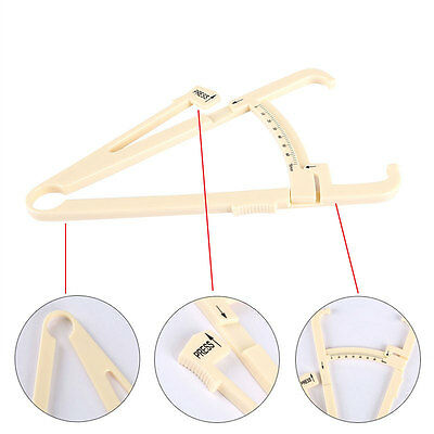 Body Fat Measurement Testing Caliper Skinfold Skin Fold Gym Weight Loss Test HG
