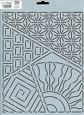 Quilting Stencil Template - Sashiko Sampler Quilt Stencil - Made in the US