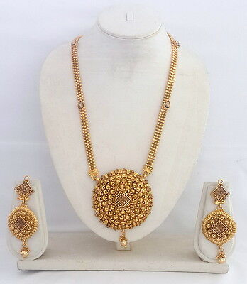 Indian Bollywood Traditional Ethnic Gold Plated Fashion Necklace Jewelry Set