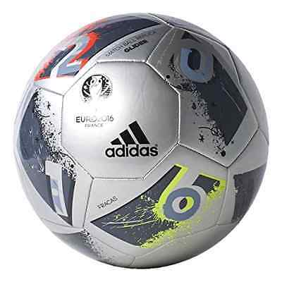 adidas Performance Euro 16 Glider Soccer Ball Silver Metallic Grey Metall Size 5