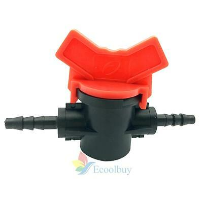 """A#S0 10X 4/7 Hose Valve G1/4""""Micro-irrigation Pipe Valve Slotted Barbed Faucet V"""