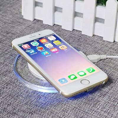 Qi Wireless Charger Charging Pad Mat Dock Receiver For iphone 6 Plus 6S 5S Hot