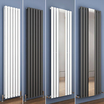 Designer Vertical Radiator Tall Upright Oval Column Panel Central Heating UK
