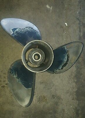 Johnson evinrude suzuki 4 stroke propeller stainless steel 13 7/8 X 17 175572