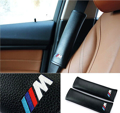 M Power Best Leather Electronic Embroidery Car Seat Belt Shoulder Pads For M3 X6