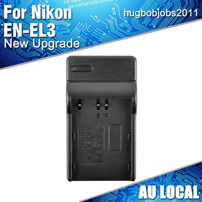 AU Local Battery Charger for Nikon EN-EL3E EN-EL3A  S9200 S6300 D200  D90 D300S