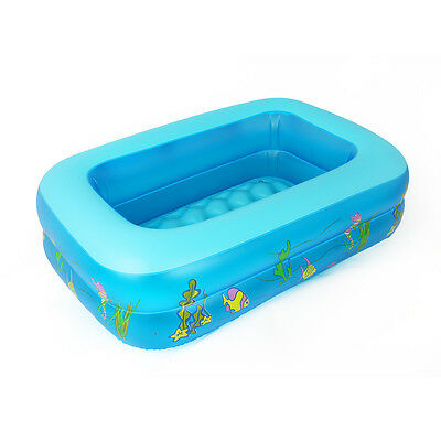 Kid Baby's Inflatable Paddling Swimming Pool Squar Cartoon PVC Water Play New