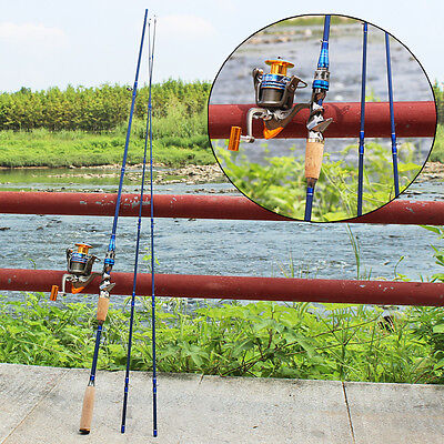 2Sections Fishing Rod and Reel Casting Spin Carbon Fishing Rod with Reel Kits