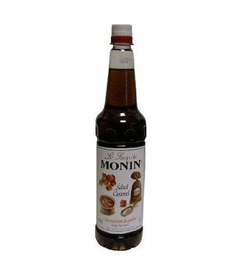 MONIN Coffee Syrup 1Ltr SALTED CARAMEL and Genuine MONIN Pump
