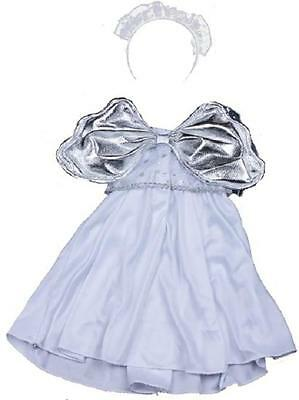 """Christmas White Silver Angel Dress For 16""""/40Cm Teddies & Build Your Own Bears"""