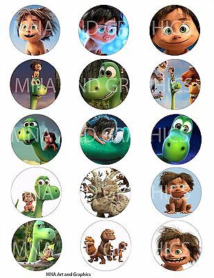 The good dinosaur bottle cap IMAGES 1 inch - good dino characters mix images