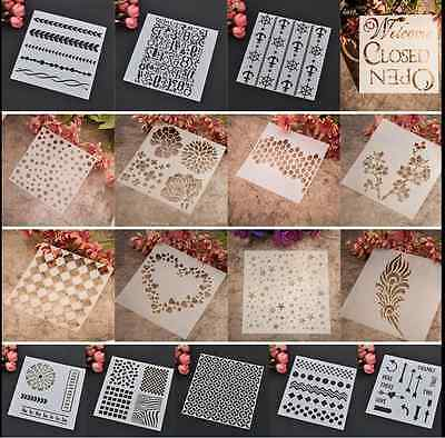 Wallpaper Stencil Pattern Wall Painting Craft Card Ideal Home Decor DIY Template