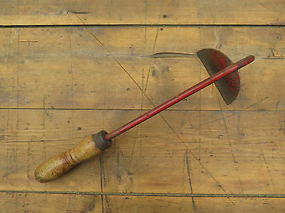 Vintage Old Metal Wooden Handle Onion Hoe. Kitchen Garden Allotment Tool #2