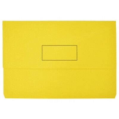 NEW Beautone Document Wallet Foolscap Yellow