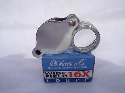 "H.E. Harris 16x Wide Field Loupe 13/16"" Lens (21mm) Model 1020 (9ANC1639 ANCO)"