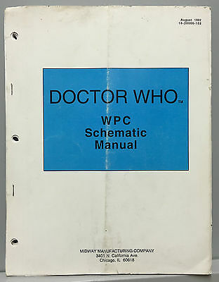 Pinball Machine Manual Midway Doctor Who - Wpc Schematic Manual - Doctor Who