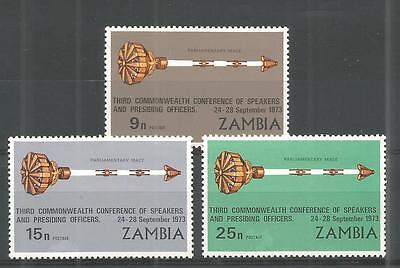 Zambia 1973 Conference Of Speakers Sg,196-198 U/m N/h Lot 934A