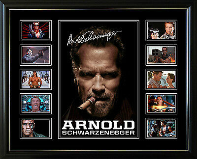 New Arnold Schwarzenegger Signed Limited Edition Framed Memorabilia