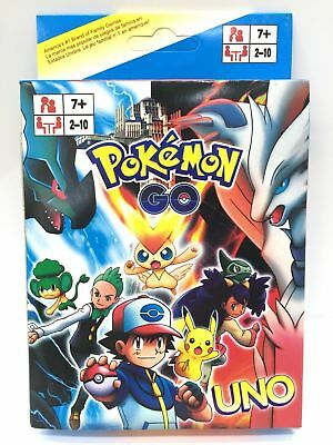Pokemon Go Uno Cards Family Fun Playing Card Game Kit  Toy Board Game
