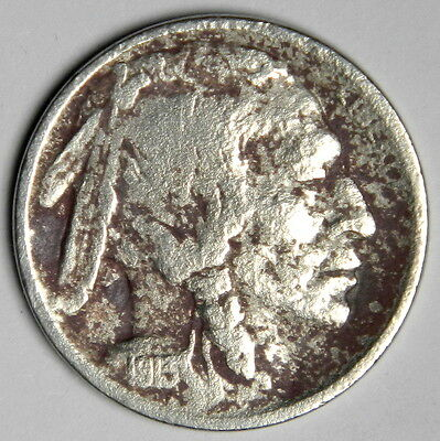 1913-S Buffalo Nickel Type 2 - Key Date Ty2 - Bold Date Vf++ Priced Right!