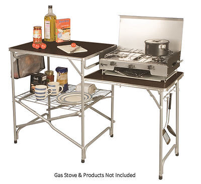 Kampa Colonel Field Kitchen Ideal for Camping, Caravanning and the Garden
