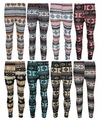 Girls Leggings Various Prints 3-12 Years With Stretch *random Pick* Bnwt