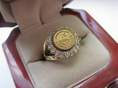 "Superb Jewelers Ladies ""Krugerrand Gold Coin"" Ring *"