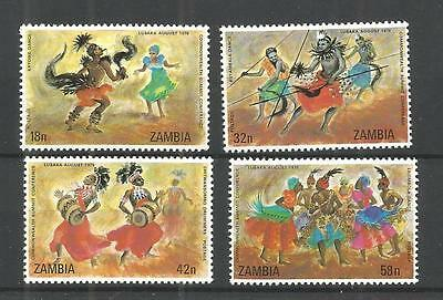 Zambia 1979 Commonwealth Summit Conference Sg,283-286 U/m N/h Lot 944A
