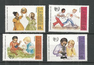 Zambia 1979 International Apartheid Year Sg,292-295 U/m N/h Lot 945A
