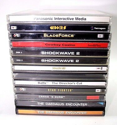 Panasonic 3DO Video Games Lot(11) Complete *Good* Fast Shipping