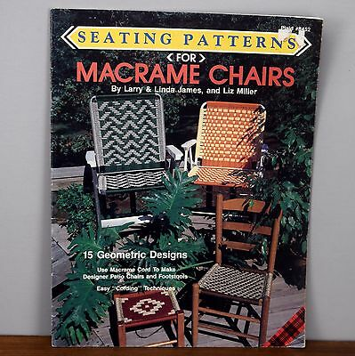 Seating Patterns Macrame Chairs Liz Miller 15 Designs Pattern Book Patio Lawn