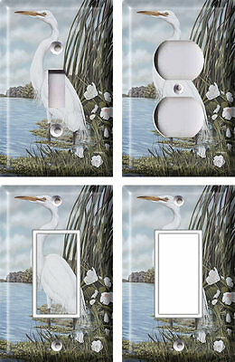 White Egret - Light Switch Covers Home Decor Outlet